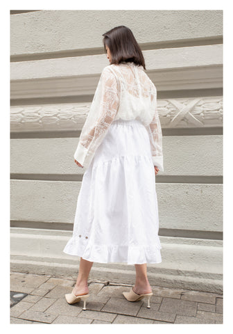 Two Ways Lace Blouse White - whoami