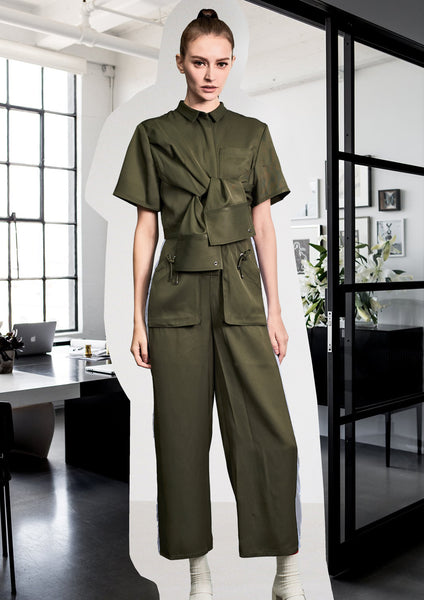 Premium Military Jumpsuit Army Green - whoami