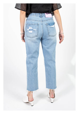 Straight Cut Summer Broken Jeans