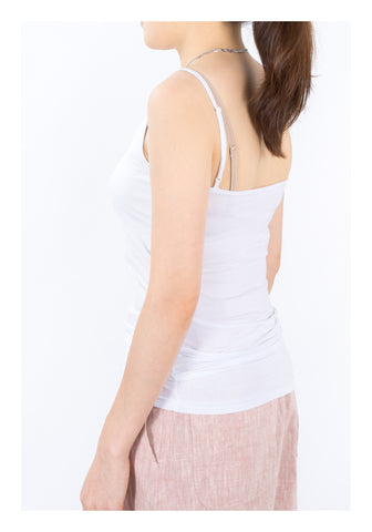 V Neck Vest White - whoami