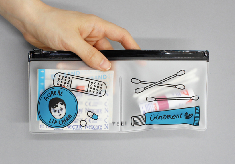 Clear Pouch Set Aurore (2pcs) - whoami
