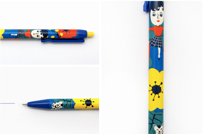 Aurore And Kitty Ball Pen (5pcs) - whoami