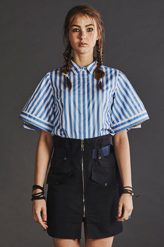 Navy Belted Skirt - whoami