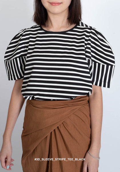 3D Sleeve Stripe Tee Black - whoami