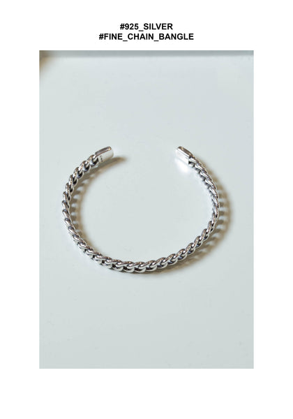 925 Silver Fine Chain Bangle - whoami