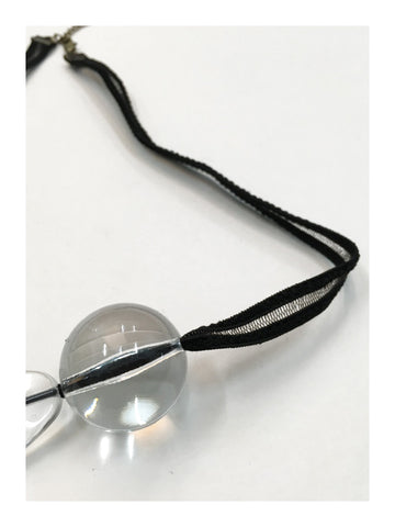 Double Clear Ball Necklace - whoami