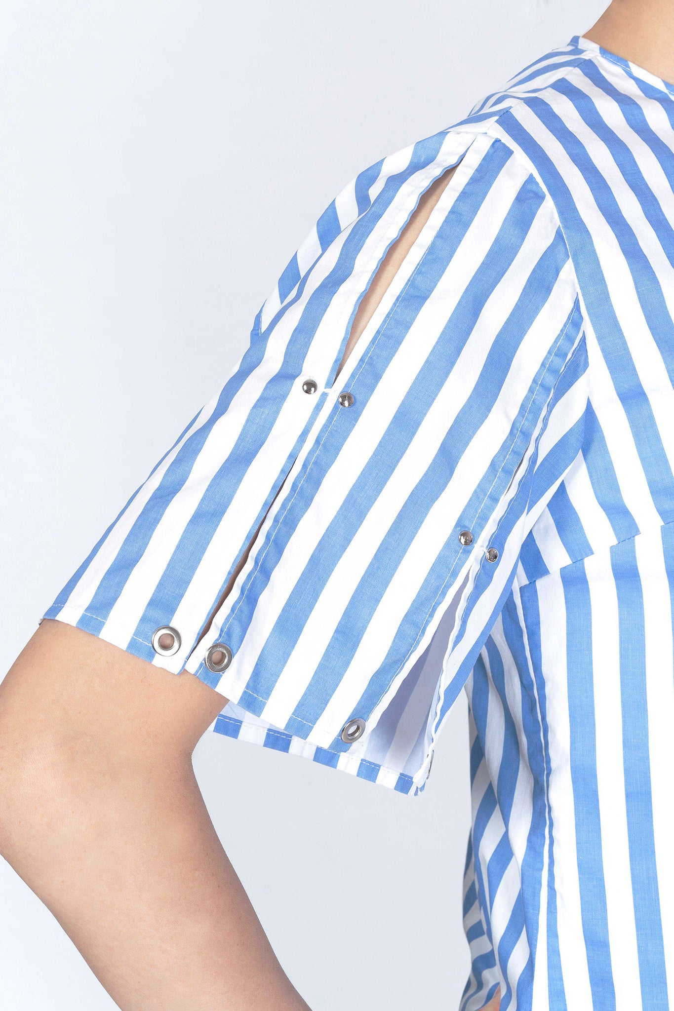 Stripe Slit Blouse - whoami