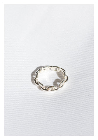 925 Silver 3D Chain Ring - whoami