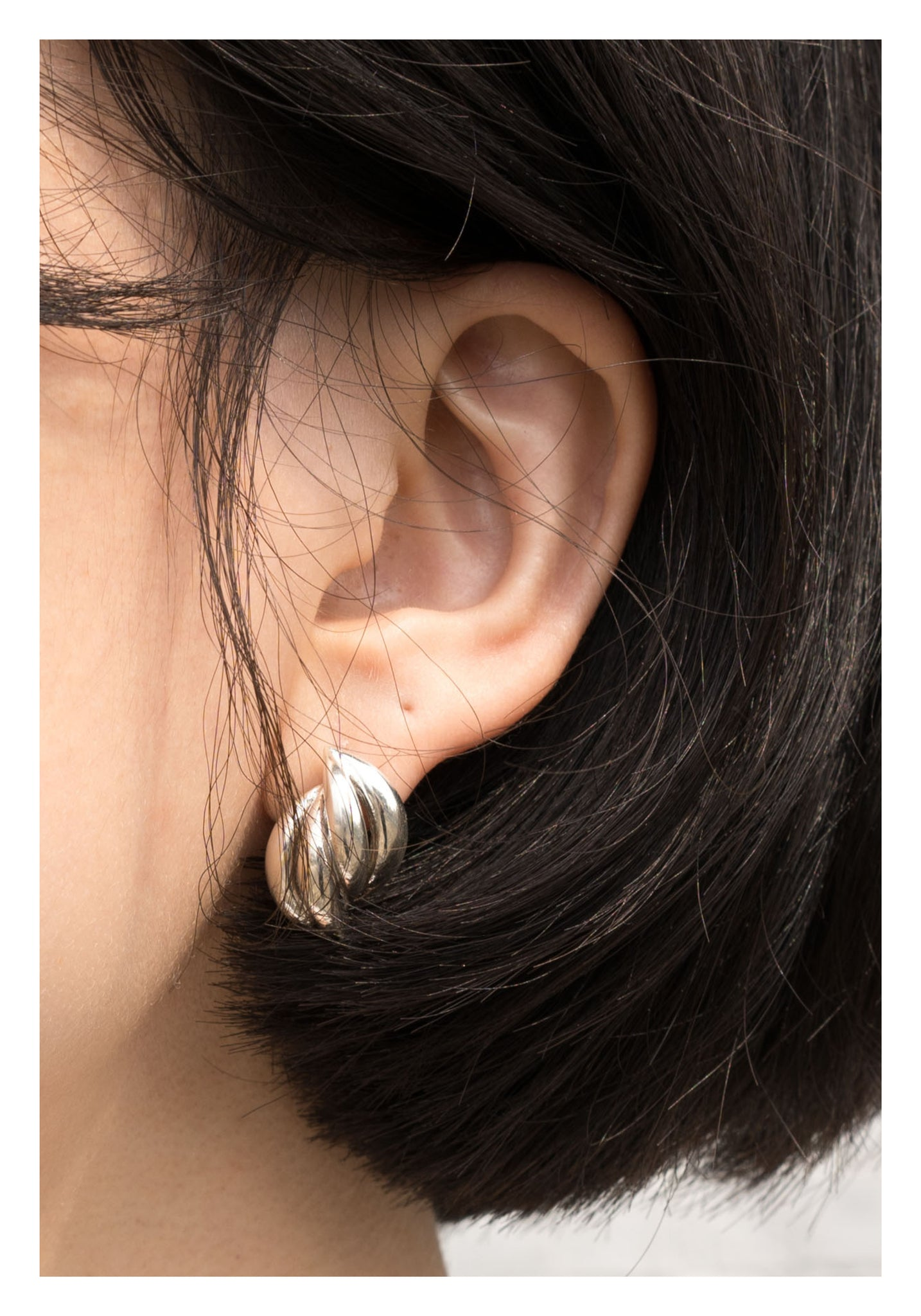 925 Silver Double Spiral Earrings - whoami