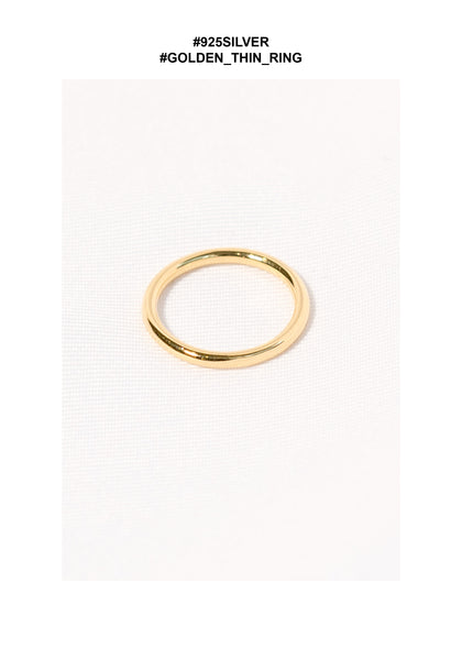 925 Silver Golden Thin Ring - whoami