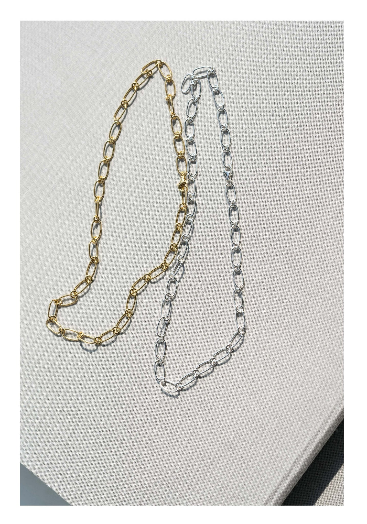 925 Silver Golden Pill Chain Necklace