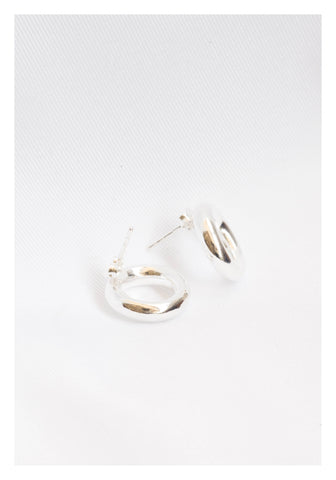 925 Silver 3D Ring Earrings - whoami