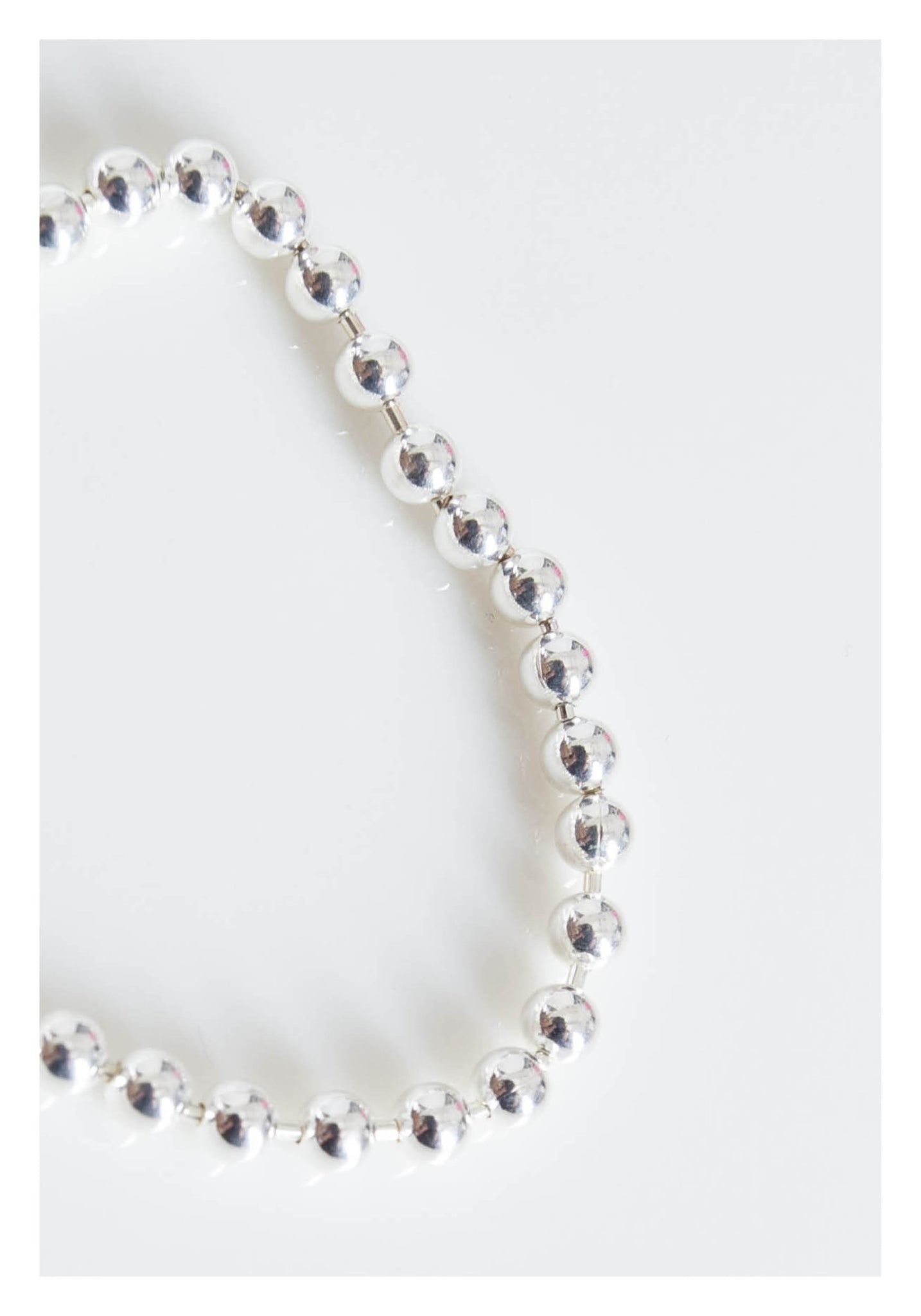 925 Silver Classic Beads And Bar Bracelet - whoami