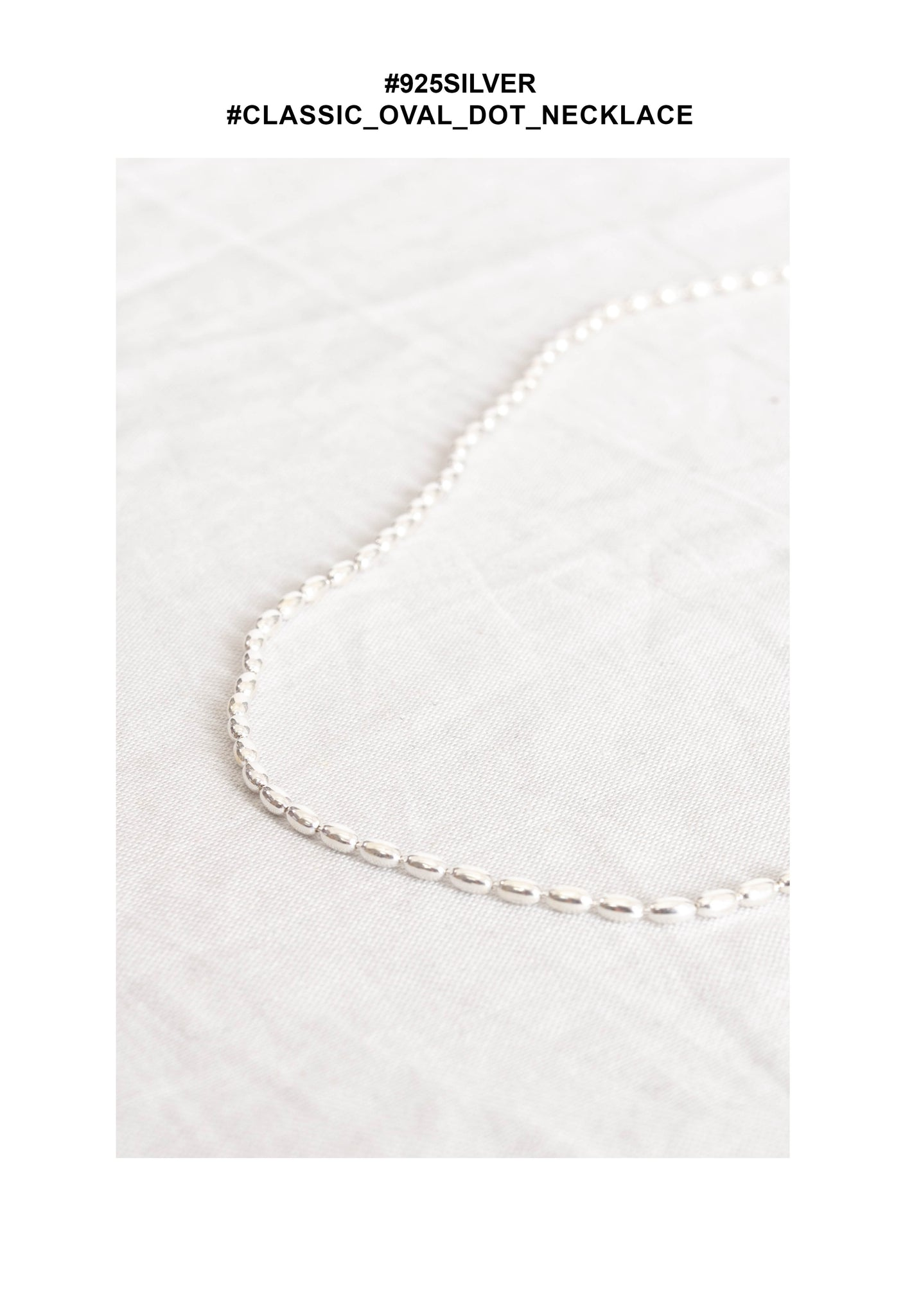 925 Silver Classic Oval Dot Necklace - whoami