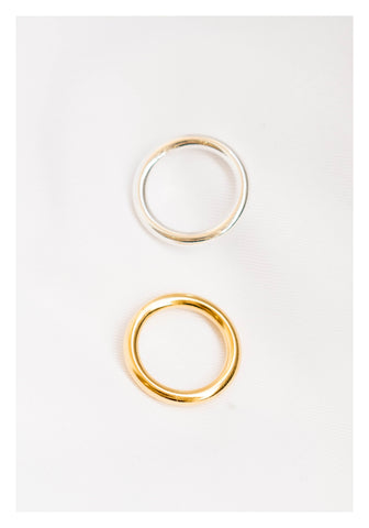 925 Silver Golden Mixed Ring Set - whoami