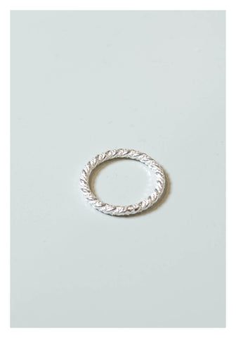 925 Silver Layer Braid Ring - whoami