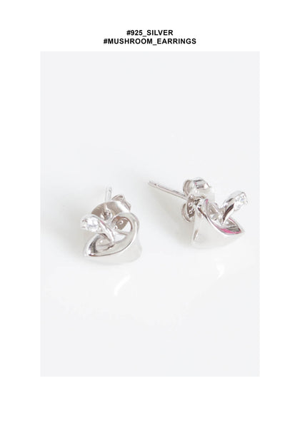 925 Silver Mushroom Earrings - whoami