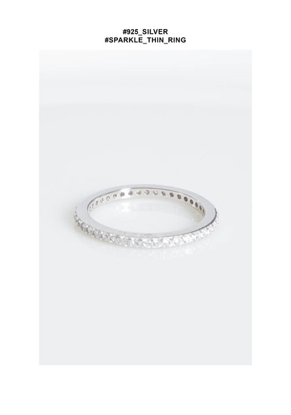 925 Silver Sparkle Thin Ring - whoami