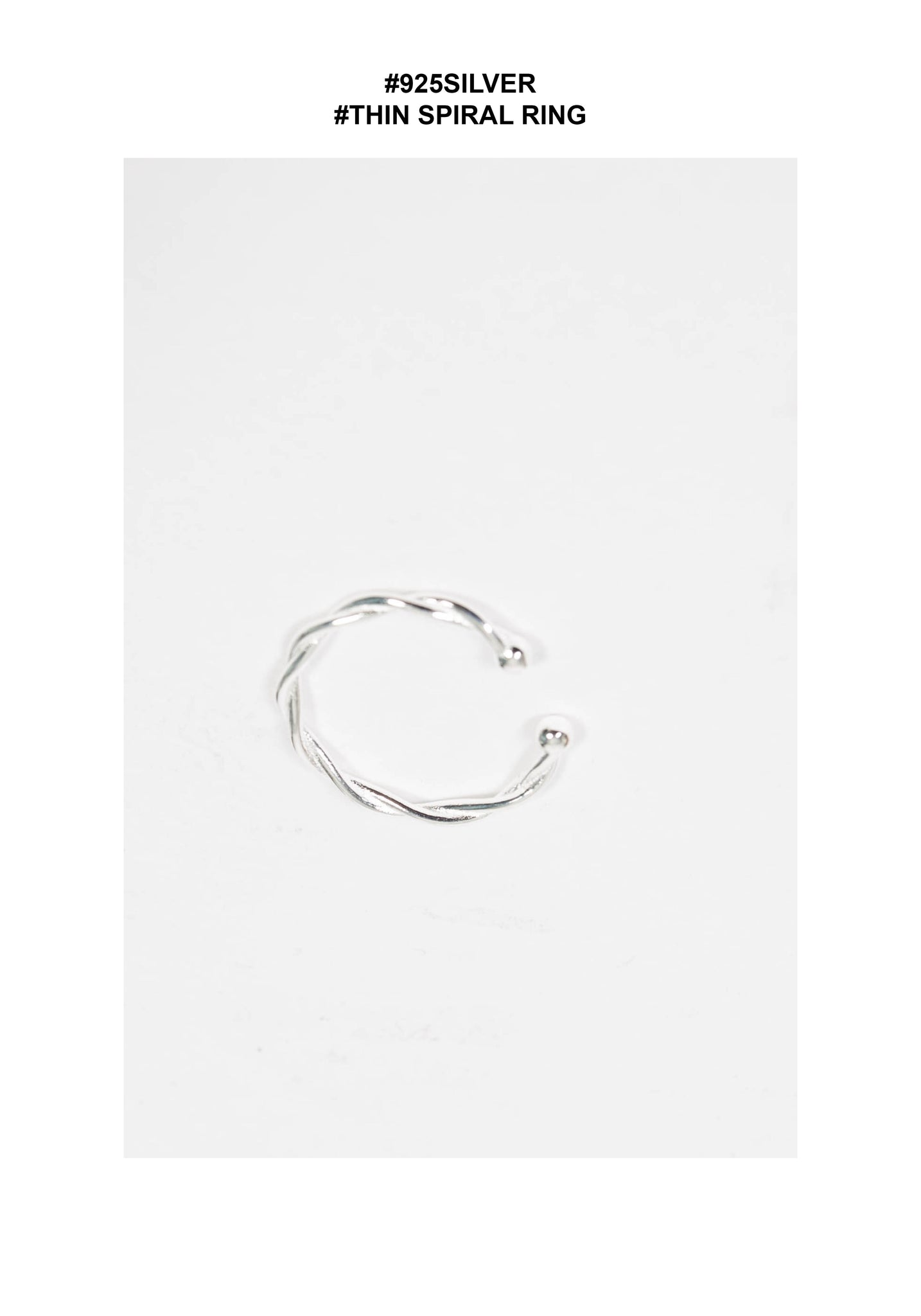 925 Silver Spiral Thin Ring