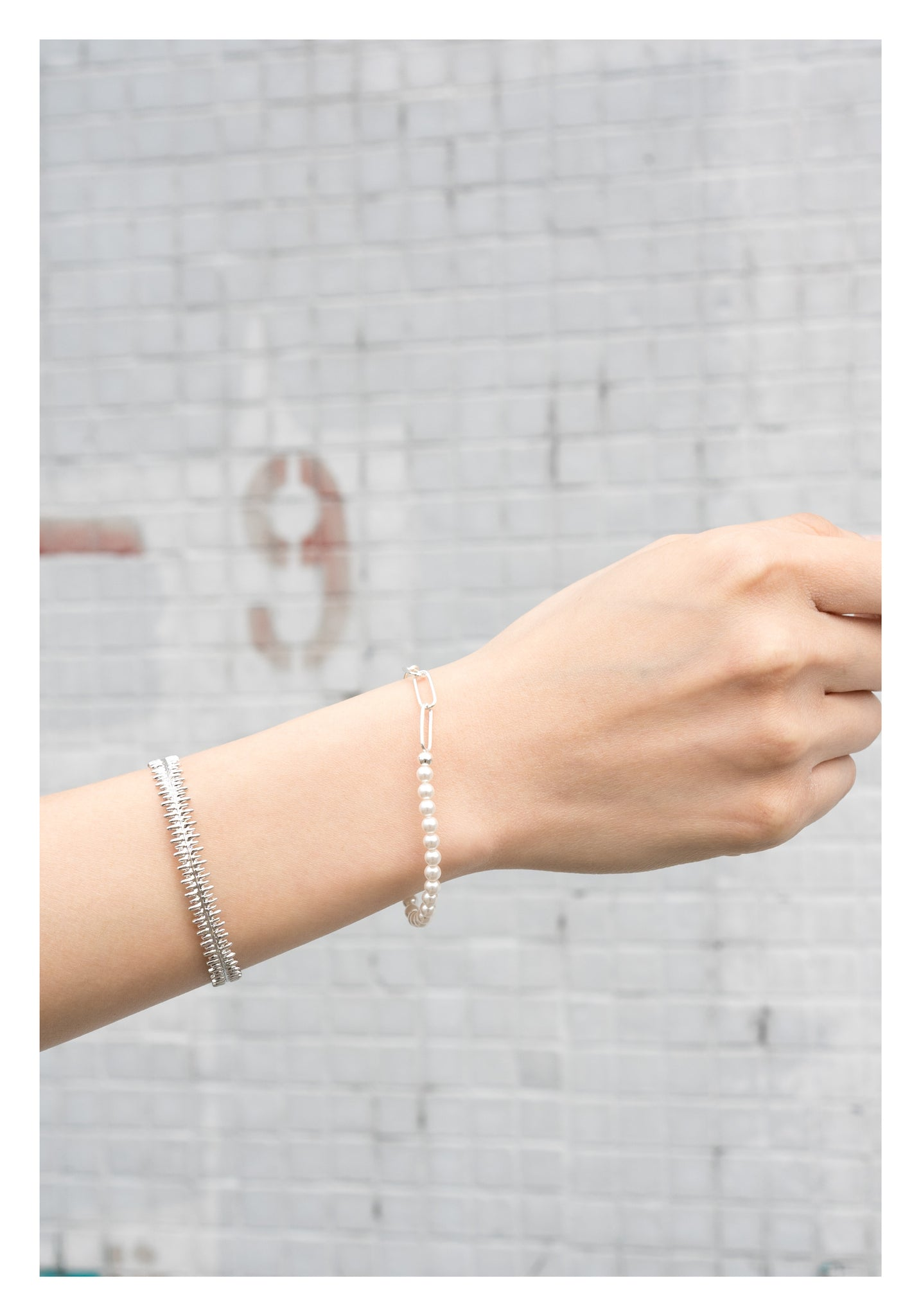 925 Silver Chain And Pearl Bracelet - whoami