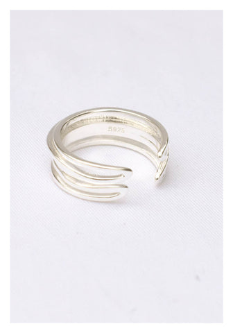 925 Silver 3D Banding Ring - whoami