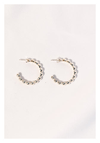 925 Silver Beads Hoop Earrings - whoami