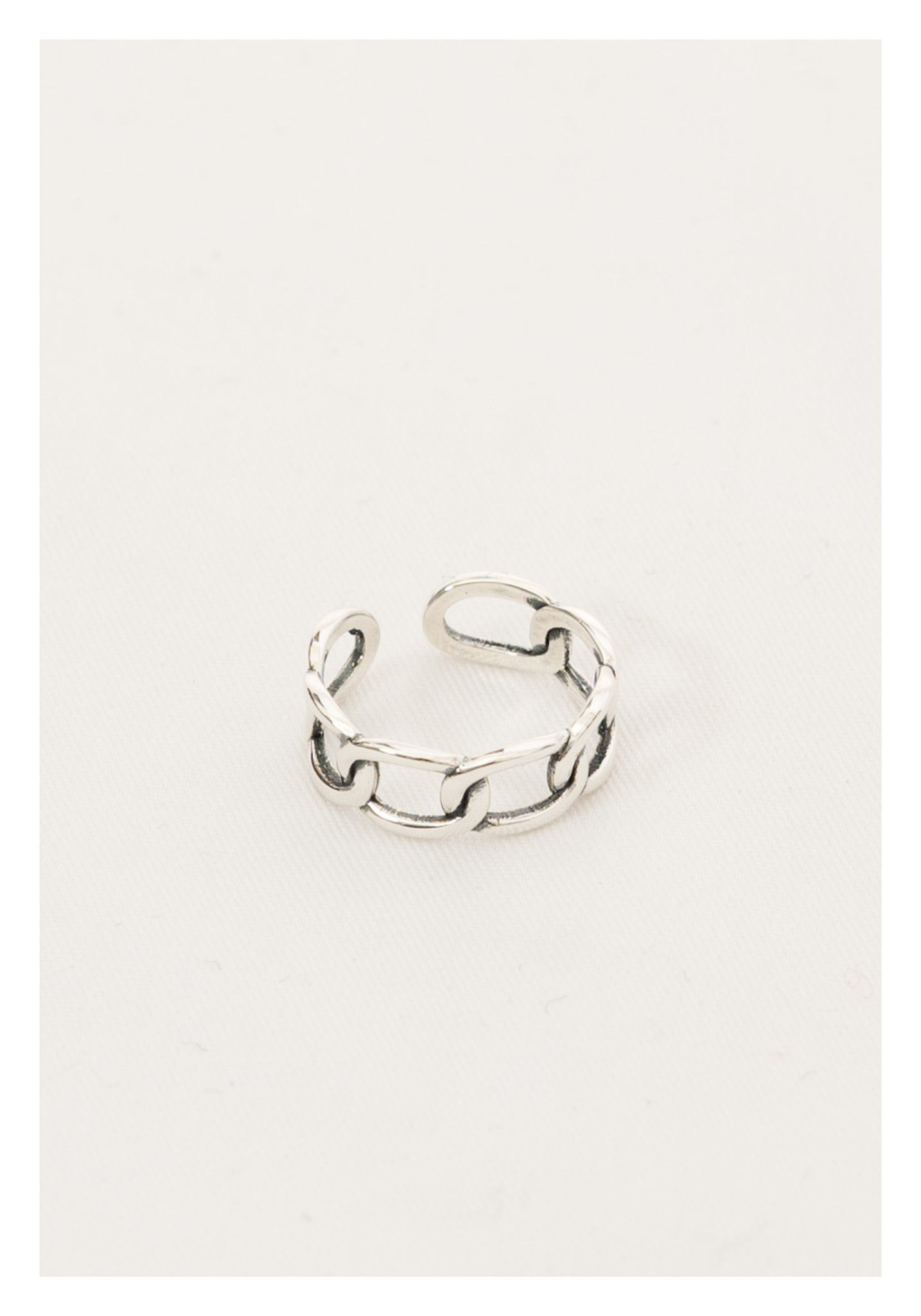 925 Silver Chain Open Ring - whoami