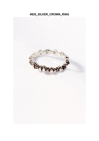 925 Silver Crown Ring - whoami