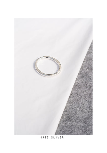 925 Silver Ellipse Bangle