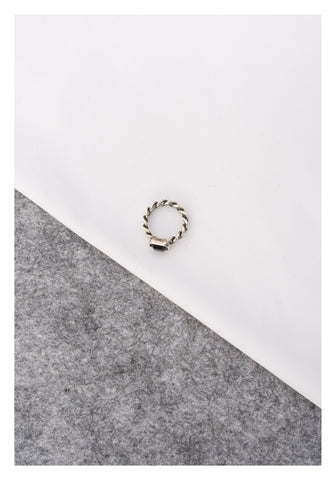 925 Silver Gem Ring Black