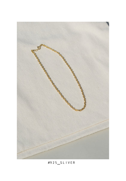 925 Silver Chain On Chain Necklace