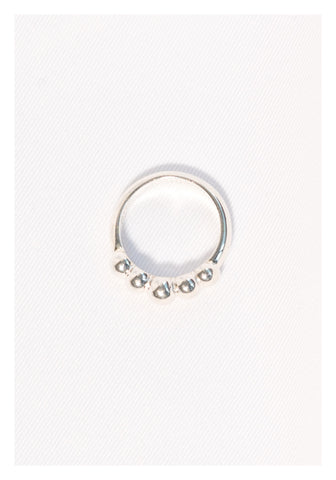 925 Silver Half Beads Ring - whoami