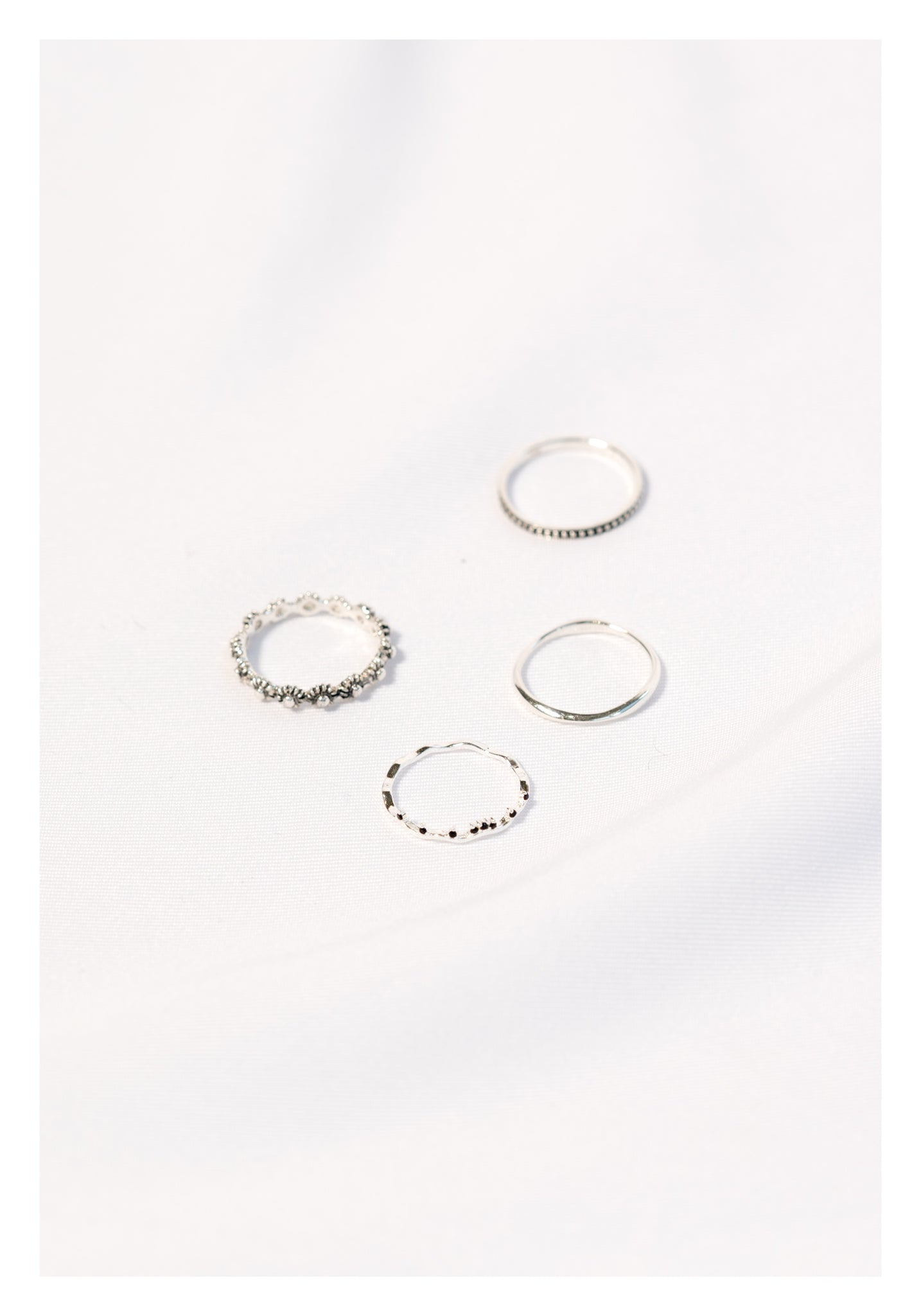 925 Silver Simple Organic Thin Ring - whoami