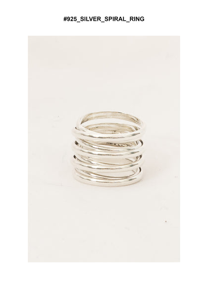 925 Silver Spiral Ring - whoami