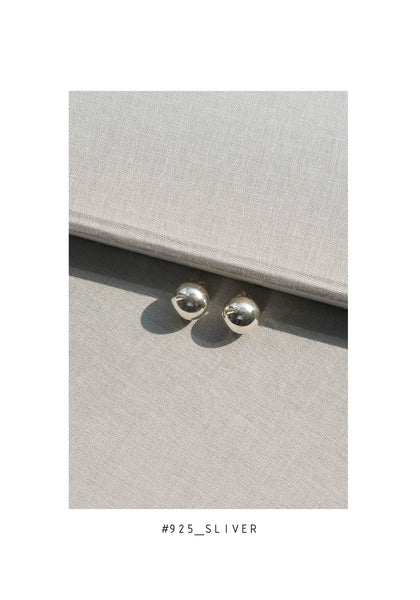 925 Silver Ball Earrings