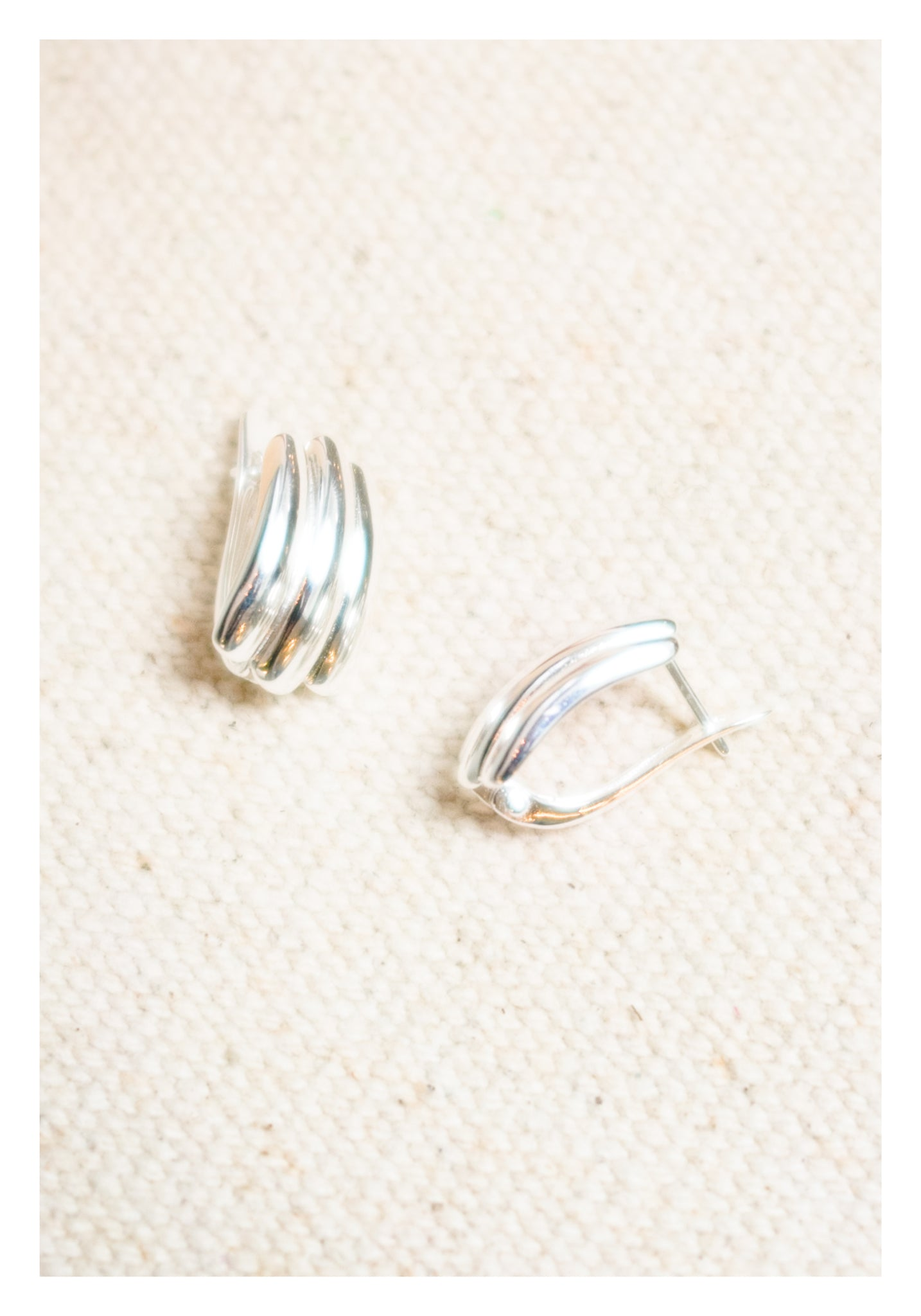 925 Silver 3 Bars Earrings - whoami