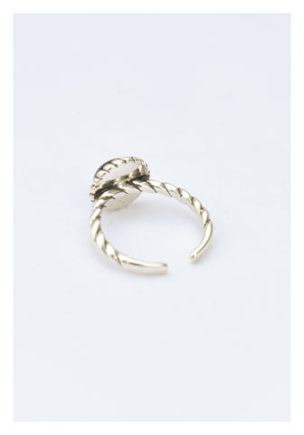 925 Silver Engraved Beads Hem Ring - whoami