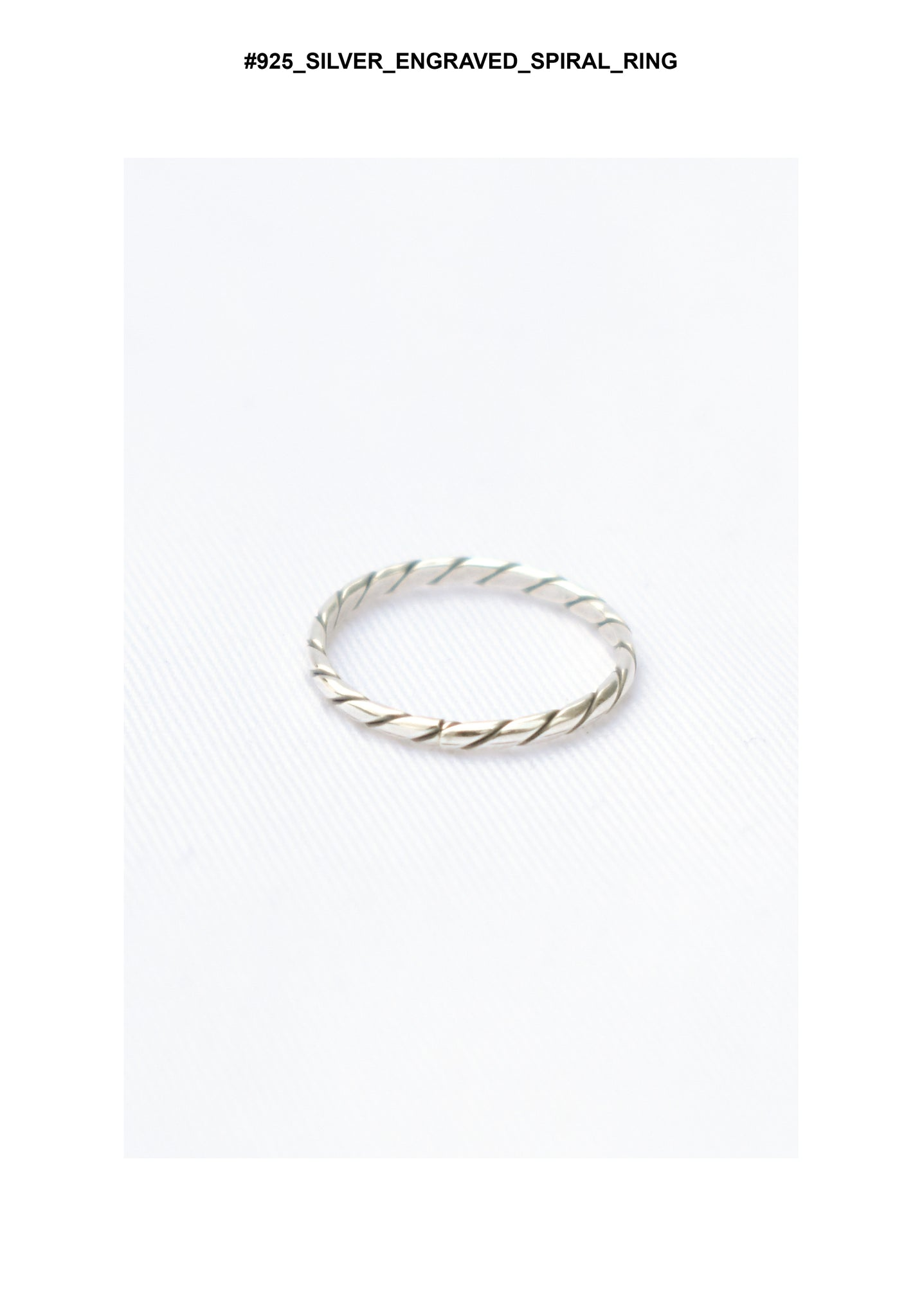 925 Silver Engraved Spiral Ring - whoami