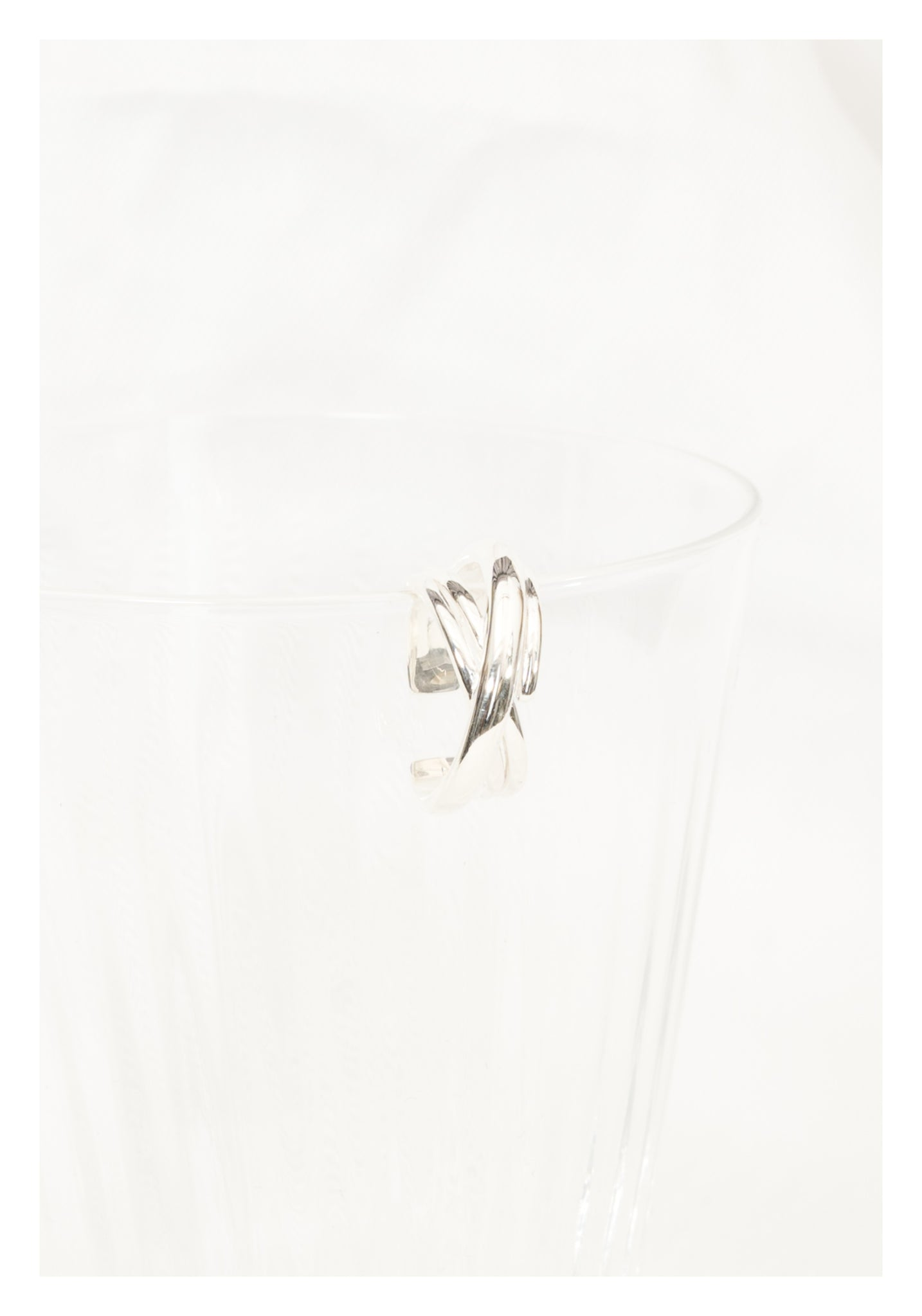 925 Silver Layer Cross Ring - whoami