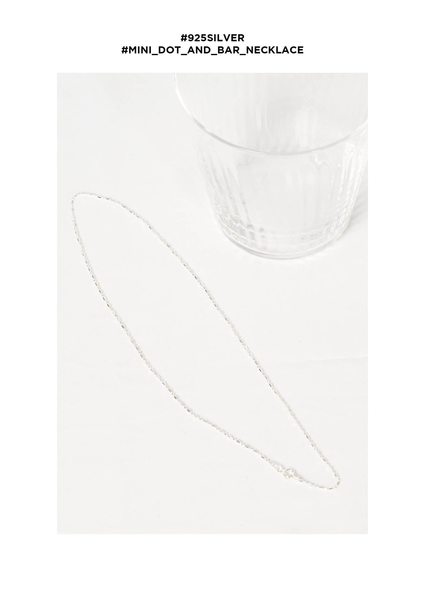 925 Silver Mini Dot And Bar Necklace - whoami