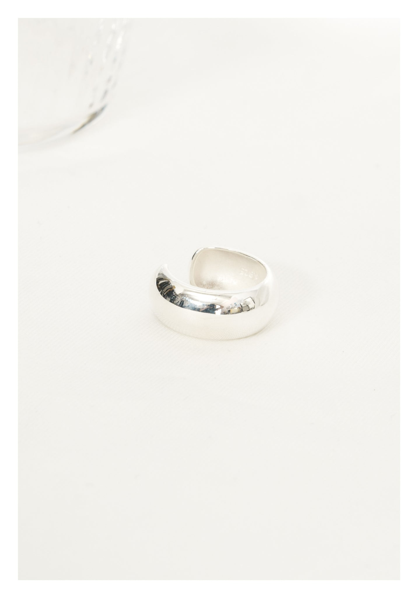 925 Silver Round Open Ring - whoami
