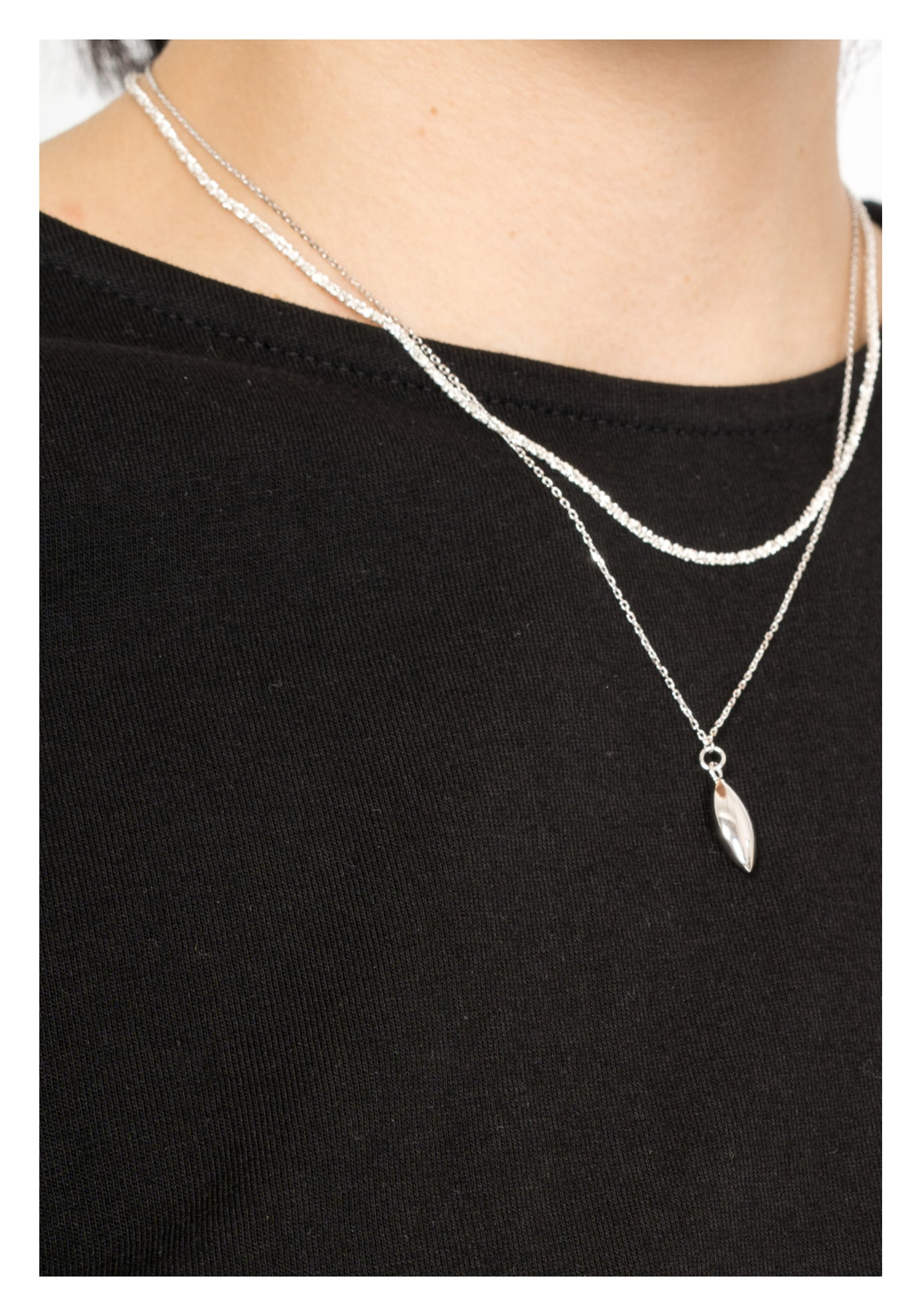 925 Silver Sand Necklace - whoami