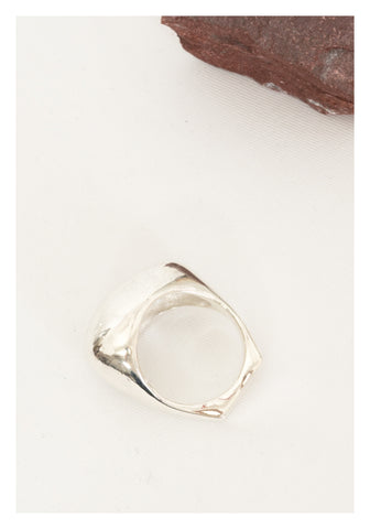 925 Silver Sculpture Bean Ring - whoami