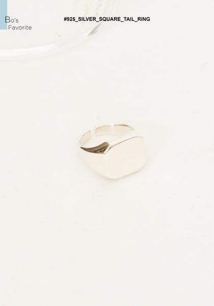 925 Silver Square Tail Ring - whoami