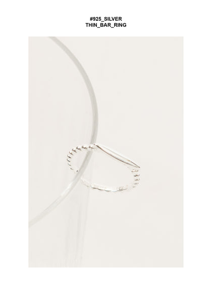 925 Silver Thin Bar Ring - whoami
