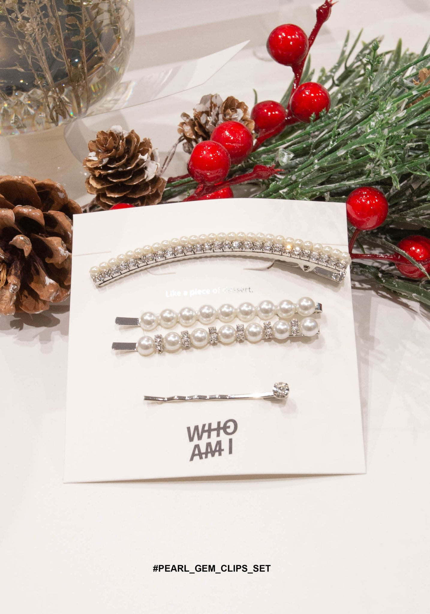 Pearl And Gem Clips Set - whoami