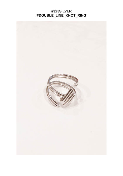 925 Silver Double Line Knot Ring - whoami