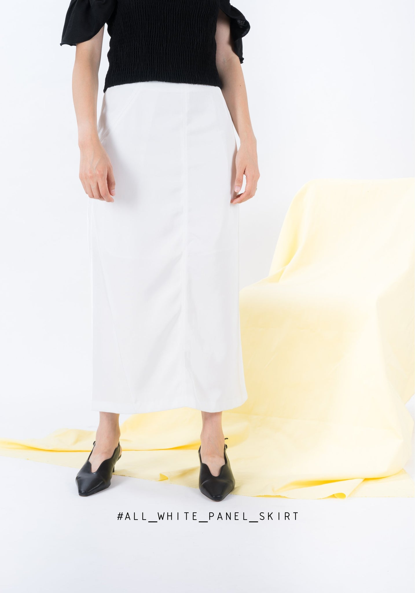 All White Panel Skirt - whoami