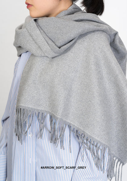 Arrow Soft Scarf Grey - whoami