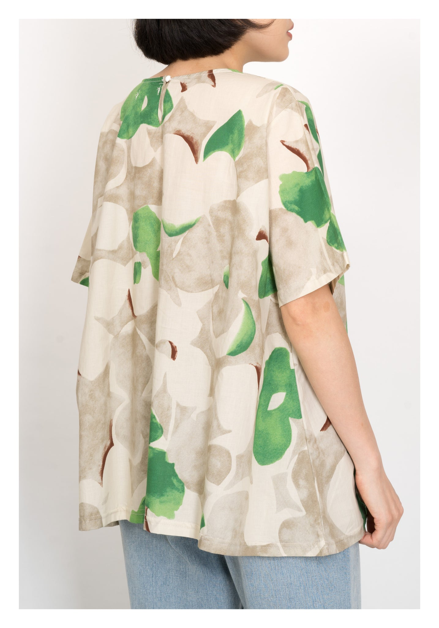 Artistic Painting Pattern Top Green - whoami